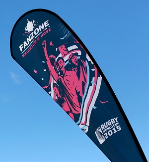 Rugby World Cup Fanzone flag