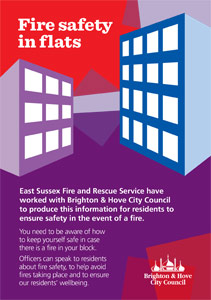 Fire safety in flats leaflet