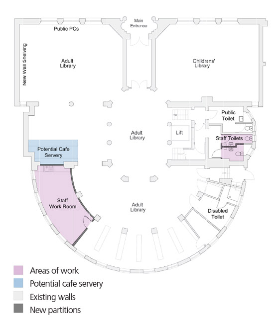 Hove Library ground floor plans