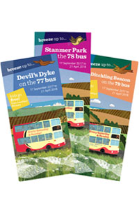 Breeze bus timetable leaflets