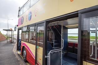 close up or Brighton & Hove bus