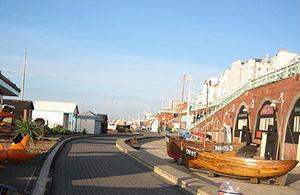 Brighton seafront fishing quarter