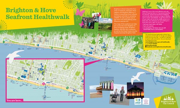 Signed Brighton seafront healthwalk route