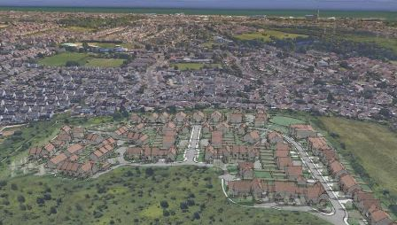 Permission for almost 200 homes on citys fringe brighton hove sketch of over 100 new houses north of city malvernweather Choice Image