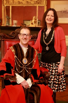 Councillor Pete West and his partner, Geraldine