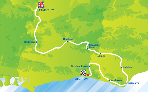 Tour of Britain route 2014