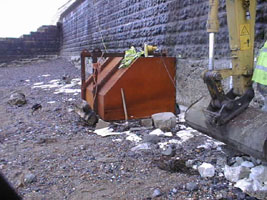 repairs to old sea wall