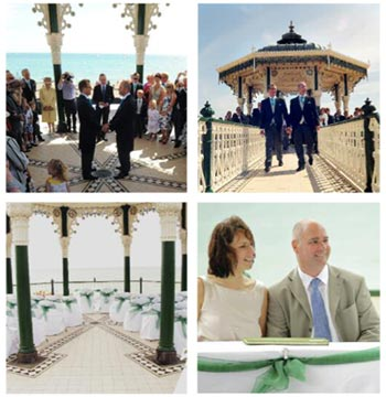 Ceremonies at the bandstand