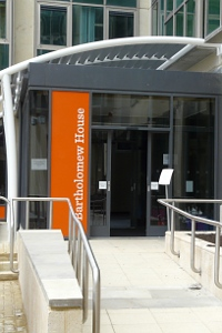 new accessible entrance to Bartholomew House