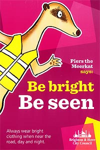 Be bright be seen poster