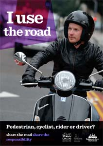 Share the road, share the responsibility road safety campaign