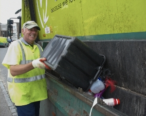 large image of recycling being collected