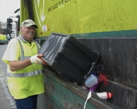 small image of recycling being collected