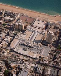 Aerial view of Brighton Centre