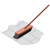 large icon of a broom