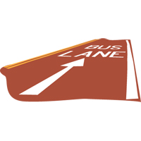 large icon of a bus lane