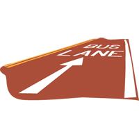 large icon of a bus lane