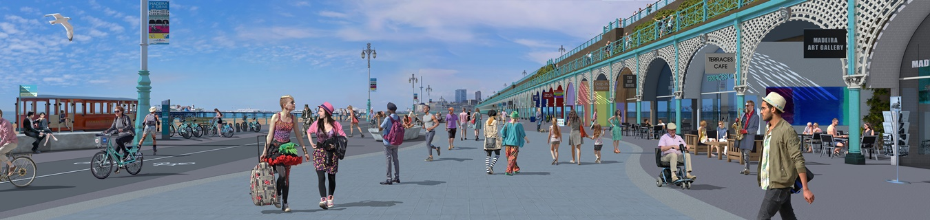Madeira Terrace and Madeira Drive | Brighton & Hove City ...
