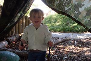 Child in tent