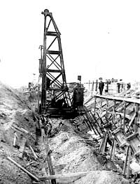 construction of Hove seawall