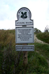 Ditchling Beacon sign