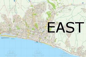 East walks map