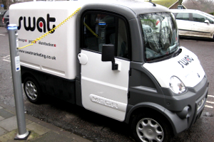 An image of an electric vehicle using a charging point