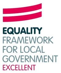 Equalities framework for local government excellent logo
