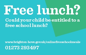 Free school meals contact 01273 293497
