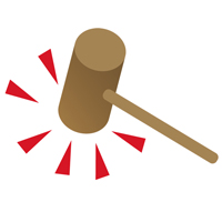 large icon of a judges hammer