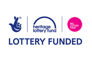 Logo for the Heritage Lottery Fund saying this is lottery funded