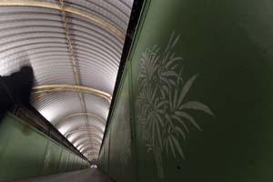 Hove footbridge stencil