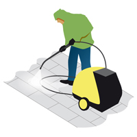 large icon of a pressure washer