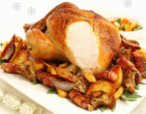 A cooked turkey