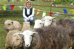 Maria Caulfield with sheep