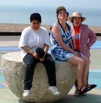 mona, debs and sue at the beach