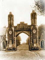entrance gate prior to demloition in 1948