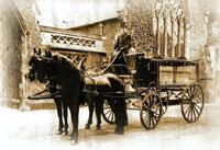 Victorian hearse circa 1900