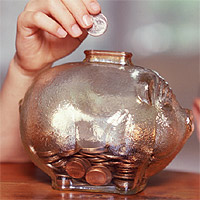 Transparent piggybank