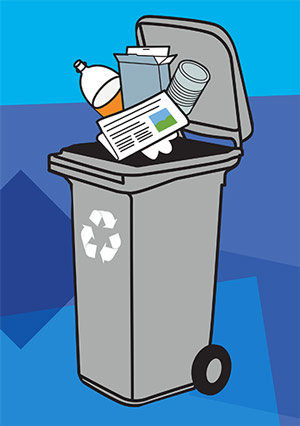 Recycling bin graphic