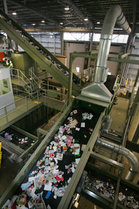 view of some of the conveyor belts in the facility