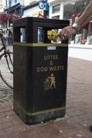 small image of someone using a litter bin