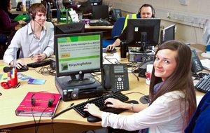 Staff from the Environment Contact Centre