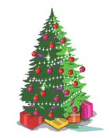 an image of a small decorated christmas tree