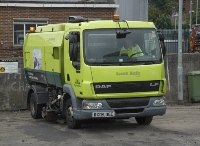 small image of a motorised street sweeper