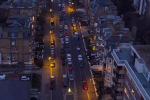 Second Avenue before street lighting upgrade