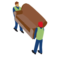 large icon of people moving a sofa
