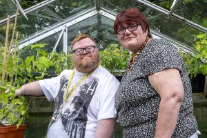 Shared Lives carer Marian Ferguson with Brian