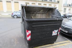 Communal bin - before
