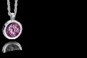 A round jewellery pendant
